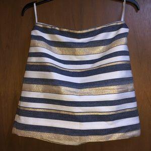 JCrew Stripped Mini Skirt